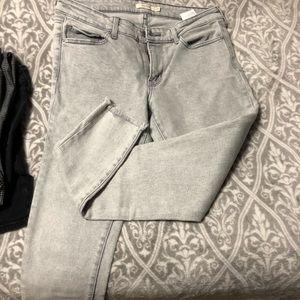 711 Levi skinny jeans with distressed hem